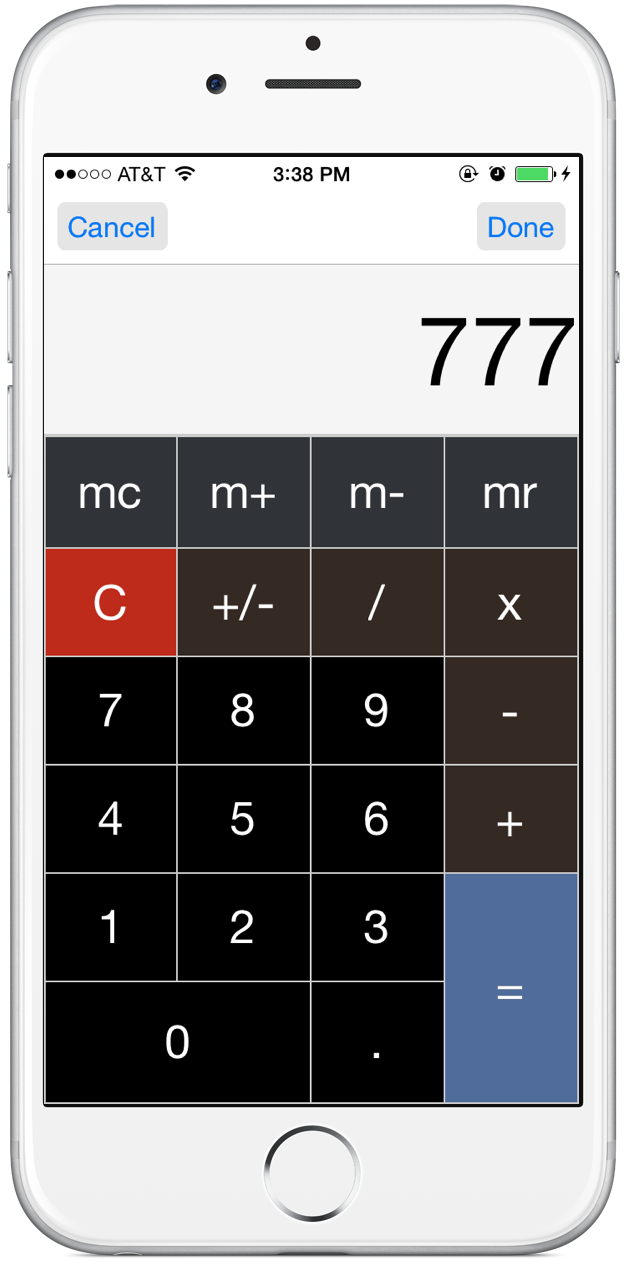 Built-in Calculator View